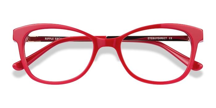 Rouge Ripple -  Coloré Acétate Lunettes de Vue