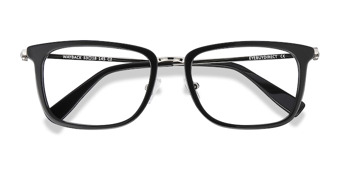 Black Wayback -  Acetate Eyeglasses