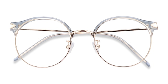 Clear Blue Moon River -  Colorful Metal Eyeglasses