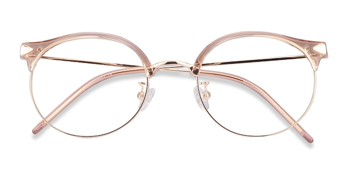 Clear Pink Moon River -  Fashion Plastic, Metal Eyeglasses
