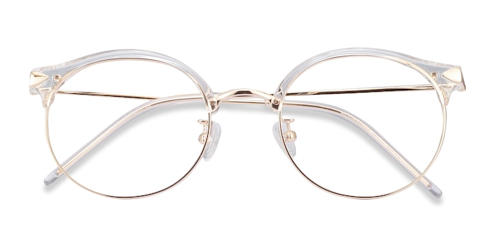Clear Moon River -  Lightweight Plastic, Metal Eyeglasses