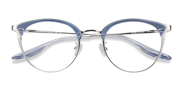 Blue Silver Bouquet -  Metal Eyeglasses