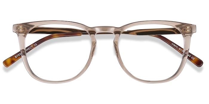Brown Vinyl -  Metal Eyeglasses
