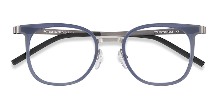 Navy Rotem -  Metal Eyeglasses