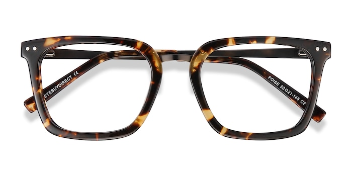 Tortoise Poise -  Vintage Metal Eyeglasses