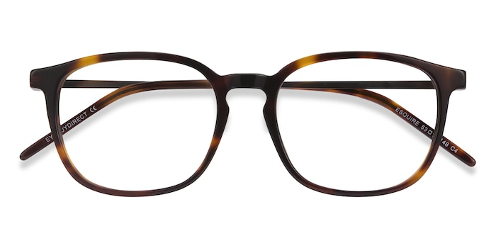 Tortoise Esquire -  Lightweight Metal Eyeglasses