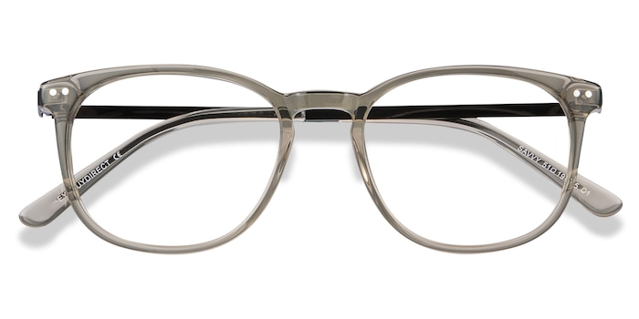 Clear Gray Savvy -  Metal Eyeglasses