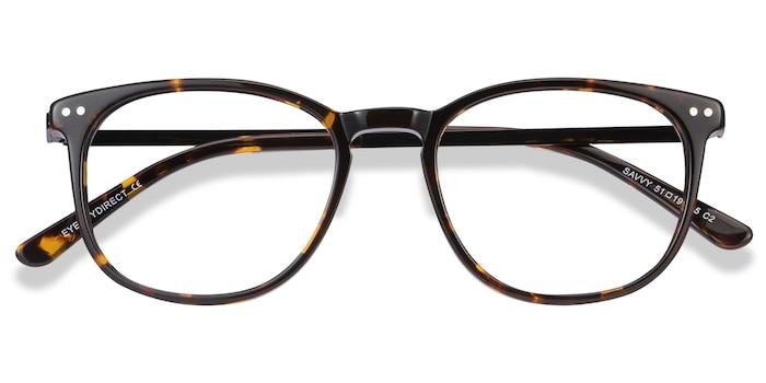 Tortoise Savvy -  Metal Eyeglasses