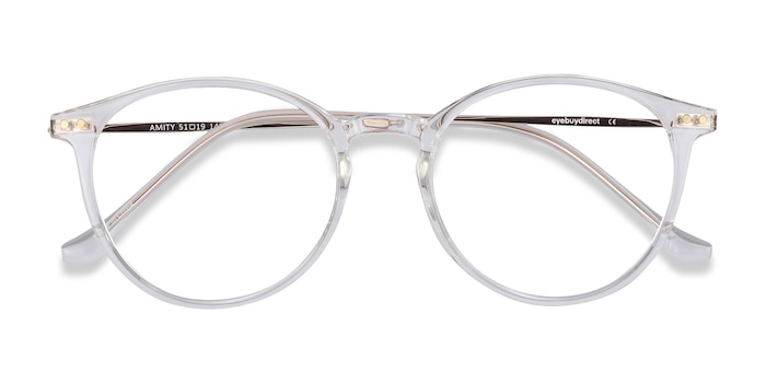 Clear Amity -  Lightweight Plastic, Metal Eyeglasses
