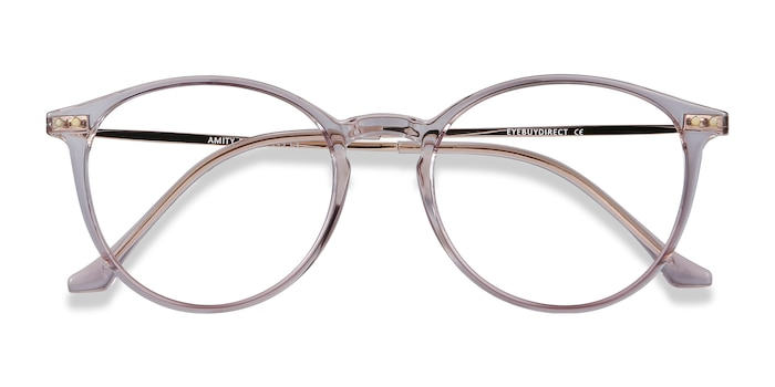 Purple Amity -  Lightweight Plastic, Metal Eyeglasses