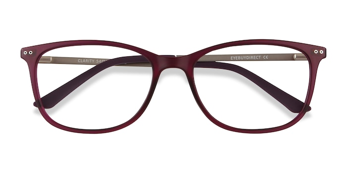Purple Clarity -  Lightweight Plastic, Metal Eyeglasses