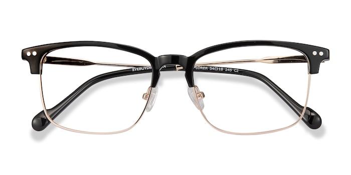 Black Explorer -  Vintage Metal Eyeglasses