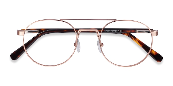 Rose Gold Lock -  Vintage Acetate Eyeglasses