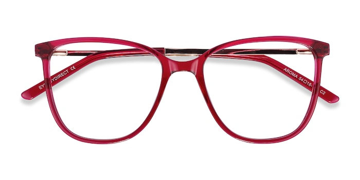 Raspberry Aroma -  Fashion Metal Eyeglasses