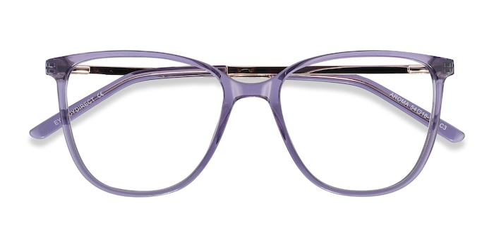 Purple Aroma -  Colorful Metal Eyeglasses