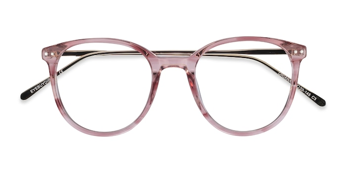 Pink Oriana -  Colorful Acetate, Metal Eyeglasses