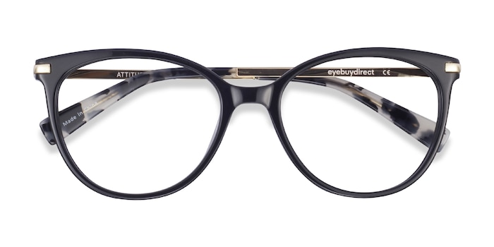 Black Attitude -  Fashion Metal Eyeglasses