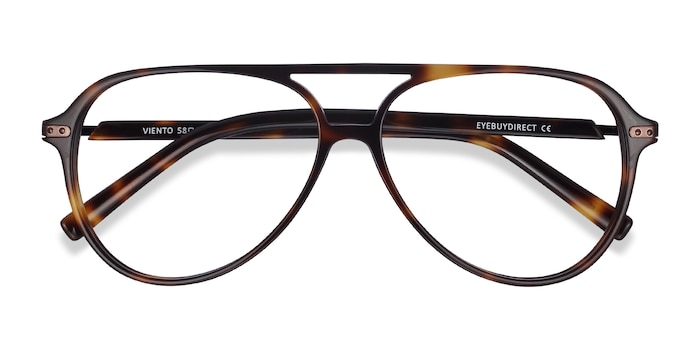 Warm Tortoise Viento -  Fashion Metal Eyeglasses