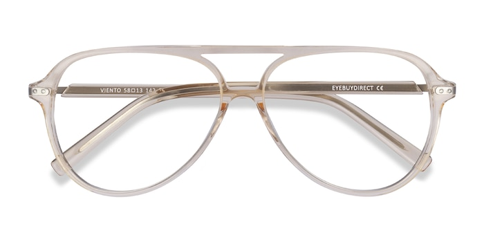 Clear Yellow Viento -  Colorful Metal Eyeglasses