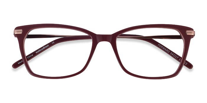 Burgundy Forward -  Classic Metal Eyeglasses
