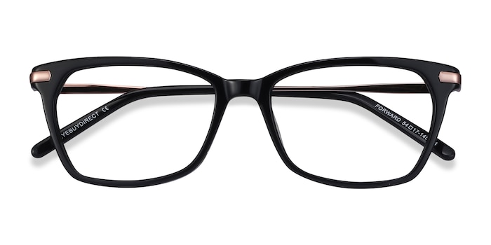 Black Forward -  Classic Acetate Eyeglasses