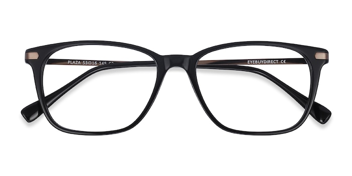 Black Plaza -  Lightweight Acetate Eyeglasses
