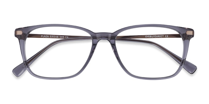 Gray Plaza -  Metal Eyeglasses