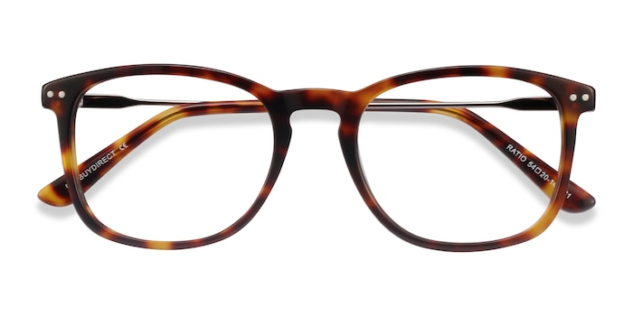 Tortoise Ratio -  Acetate, Metal Eyeglasses