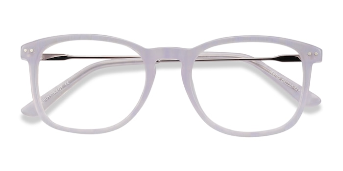 Purple Striped Ratio -  Colorful Metal Eyeglasses