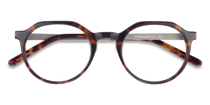 Dark Tortoise The Cycle -  Vintage Acetate, Metal Eyeglasses