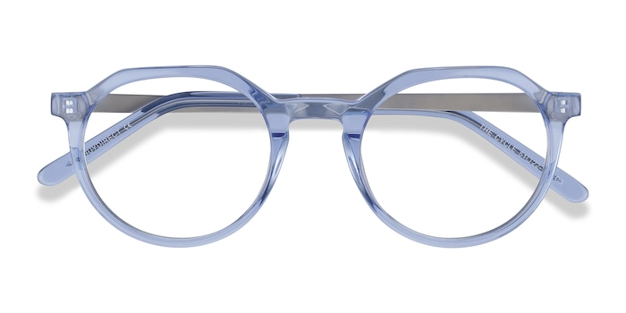 Blue The Cycle -  Colorful Metal Eyeglasses