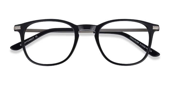 Black Toulouse -  Acetate Eyeglasses