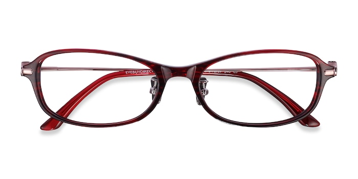 Red Striped Lise -  Acetate Eyeglasses