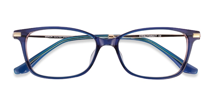 Blue Vanda -  Metal Eyeglasses