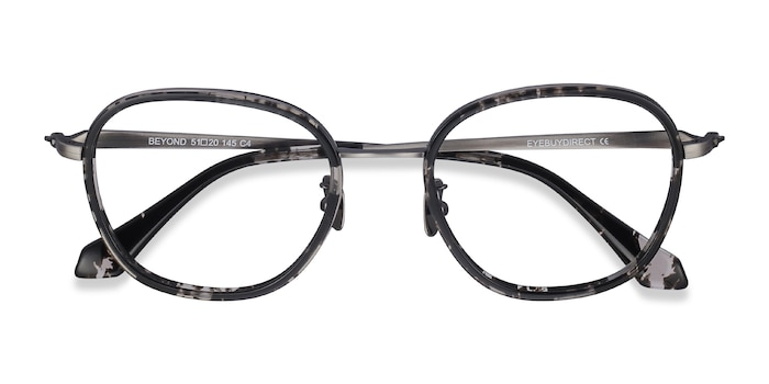 Gray Floral Beyond -  Acetate Eyeglasses