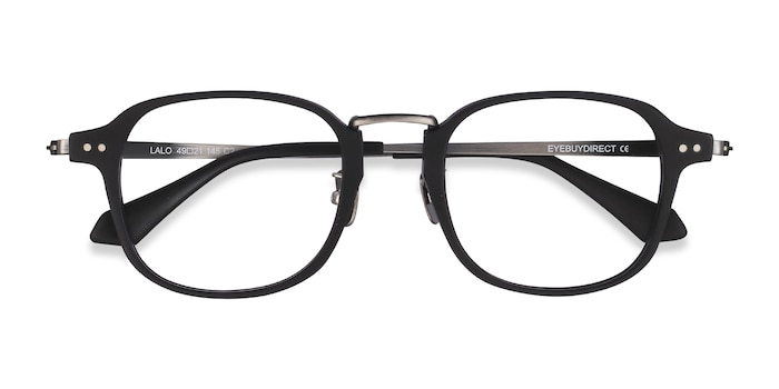 Matte Black Lalo -  Acetate Eyeglasses