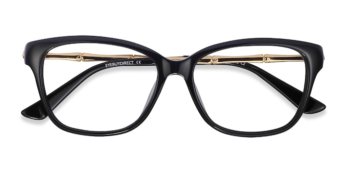 Black Golden Ouro -  Metal Eyeglasses
