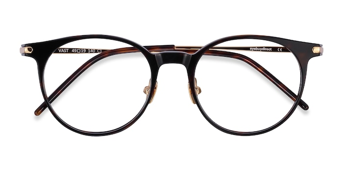 Tortoise Vast -  Metal Eyeglasses