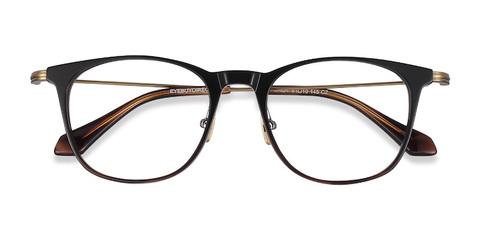 Black Brown Walker -  Lightweight Acetate Eyeglasses