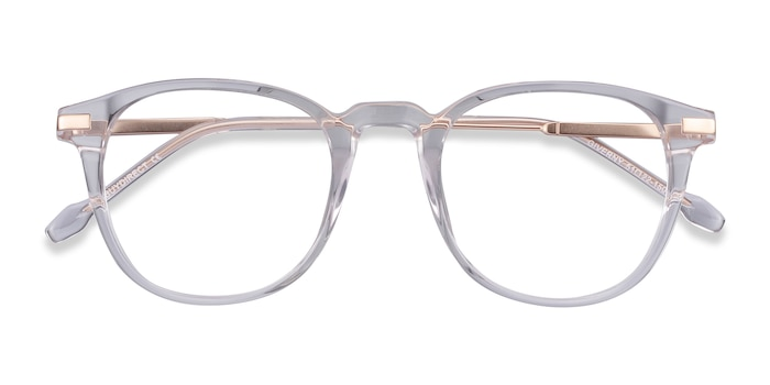 Clear Giverny -  Fashion Acetate, Metal Eyeglasses