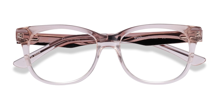 Clear Pink Story -  Fashion Acetate, Metal Eyeglasses