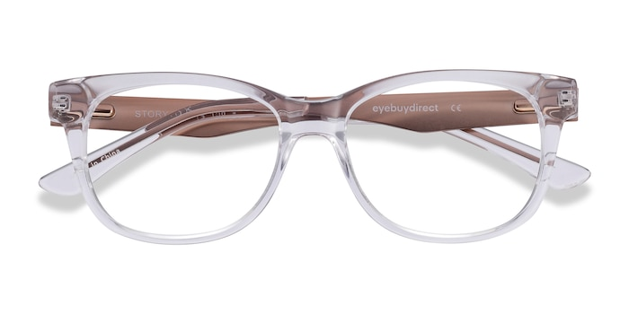 Transparent Story -  Tendance Acetate, Metal Lunette de Vue