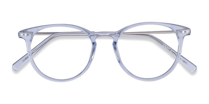 Clear Blue Snap -  Lightweight Metal Eyeglasses