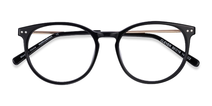 Black Clever -  Metal Eyeglasses
