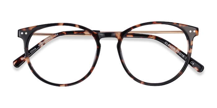 Tortoise Clever -  Lightweight Acetate Eyeglasses