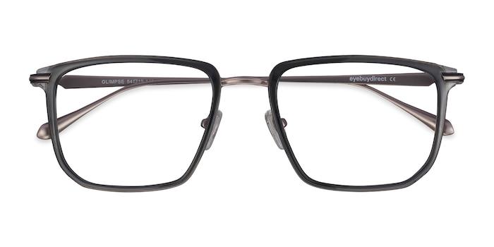 Gray Glimpse -  Fashion Metal Eyeglasses
