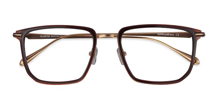 Brown gold Glimpse -  Fashion Metal Eyeglasses