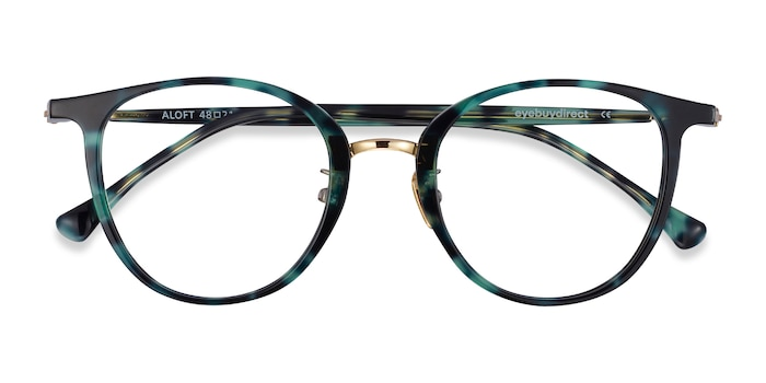 Green Floral Aloft -  Lightweight Acetate Eyeglasses