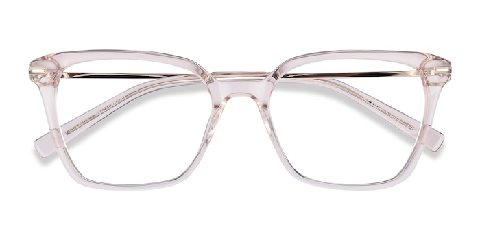 Clear Beige Dearly -  Fashion Acetate, Metal Eyeglasses