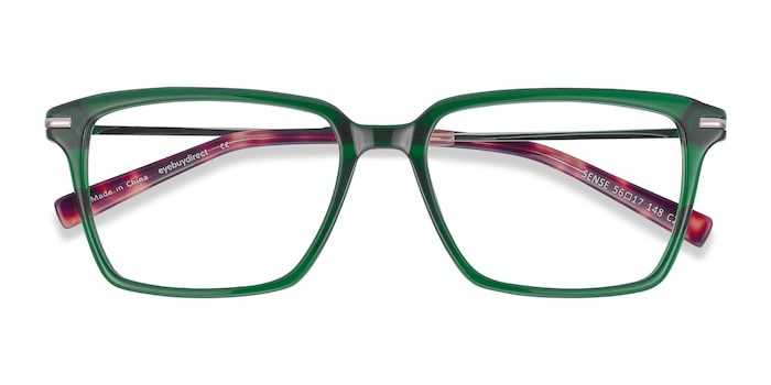 Green Sense -  Lightweight Acetate, Metal Eyeglasses